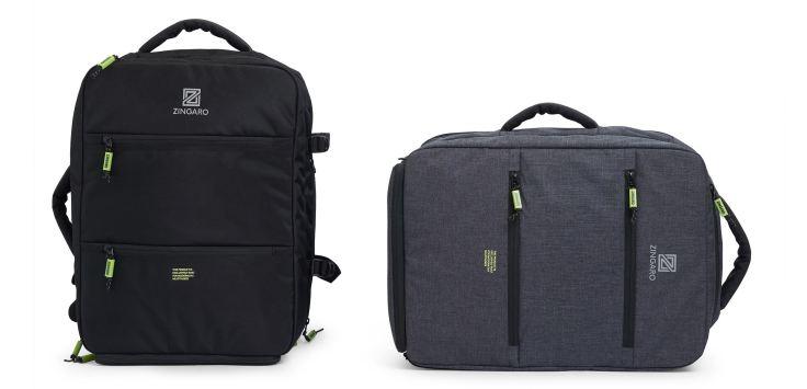Zingaro-grey-backpack-and-black-backpack-most-organized-backpack-ever-2